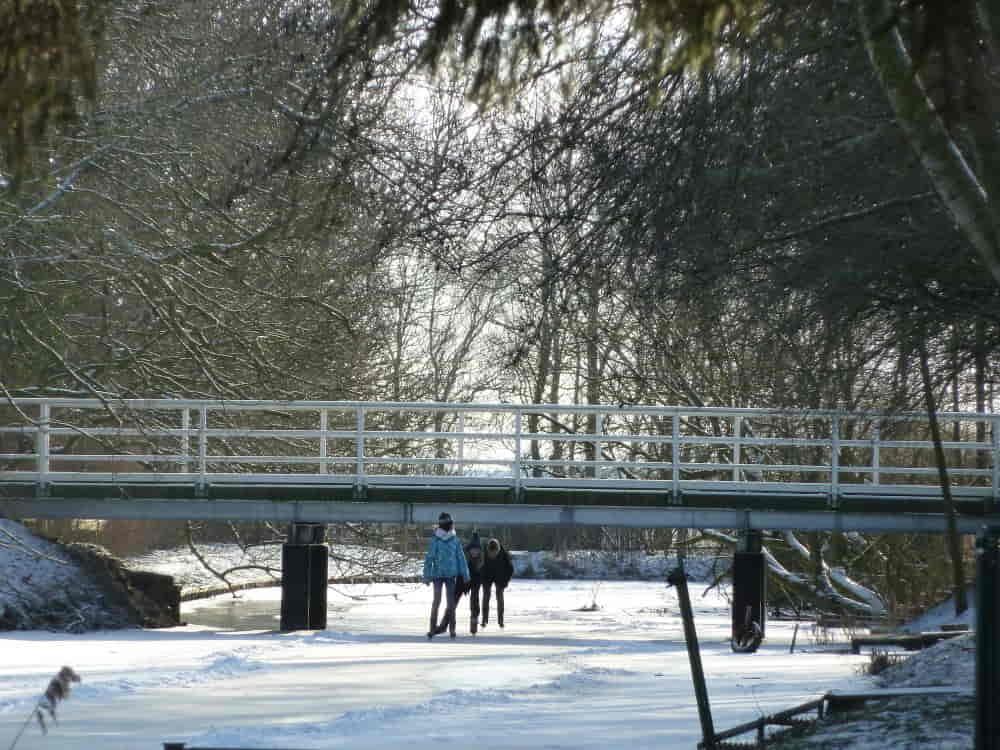 schöfeln unter der Brücke