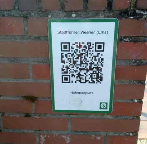 QR Code am Parkplatz