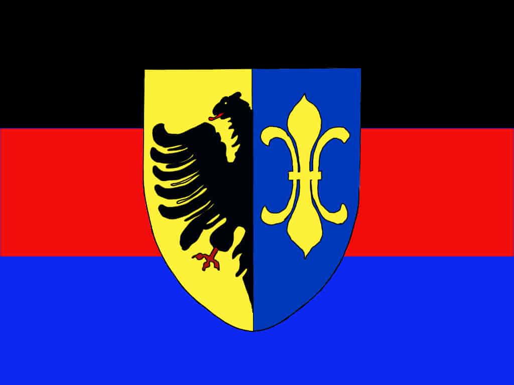 Wappen Rheiderland mit Ostfriesenflagge